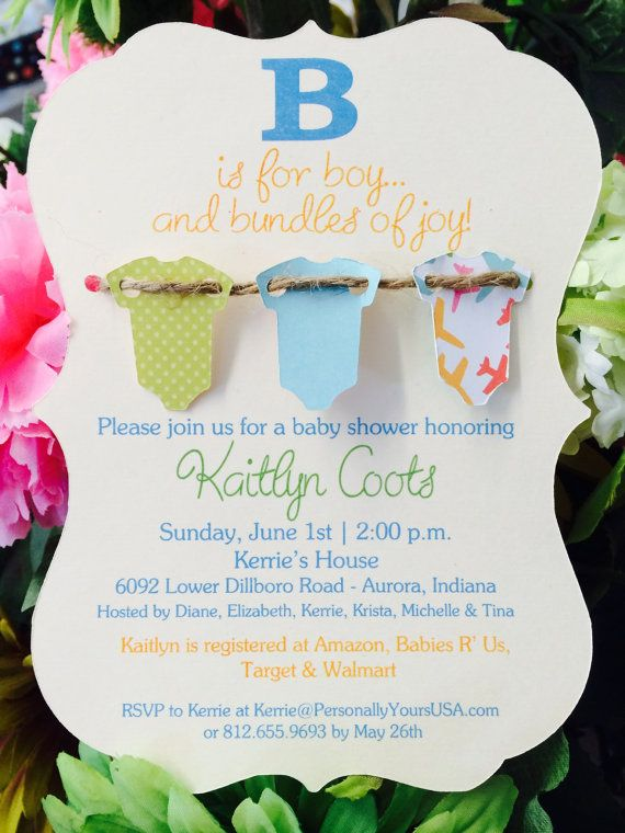 390 best invites images on pinterest | birthday ideas, cards and, Baby shower invitations