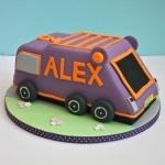 Bin Lorry/ Garbage truck cake  www.thelittlevillagecakery.co.uk