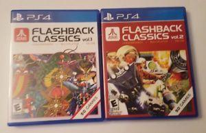 a atari flashback classics volume 1 volume 2 ps4 video game lot playstation 4