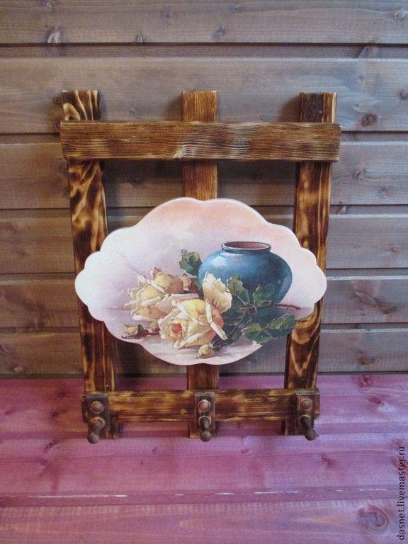 Купить Вешалка для полотенец,прихваток и т.п. - коричневый, вешалка для кухни, Вешалка для полотенец, кухня