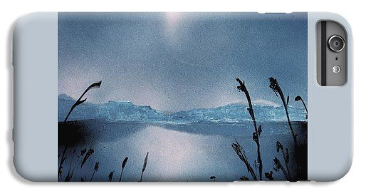 Moon Fog IPhone 6s Plus Case Printed with Fine Art spray painting image Moon Fog by Nandor Molnar (When you visit the Shop, change the orientation, background color and image size as you wish)