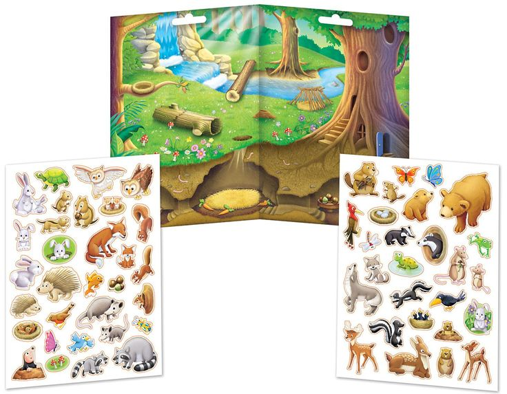"""There is so much to explore with the Forest Friends Magnetic Play Set from Imaginetics! It features a large, 18"""" x 12.75"""" fold-out playboard with spaces above and below ground and 58 forest animal magnets ready to fill the scene. The sturdy magnet pieces are just right for kids to hold, and great for open-ended play. Be sure that fun sticks with kids with this fun magnetic playset! #forestfriends #magnets #imaginetics"""