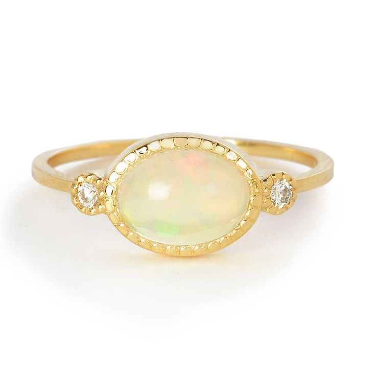 Jennie Kwon Opal and Diamond Reese Ring | Greenwich Jewelers October birthstone- opal #holidaygift #wishlist