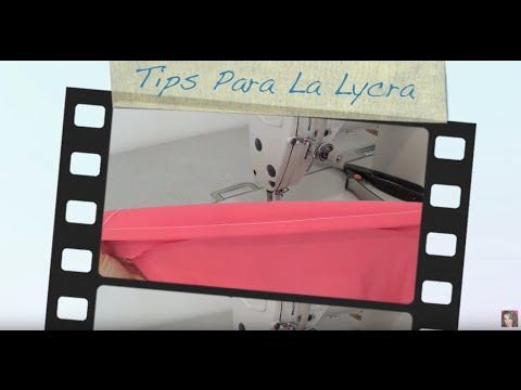 Como Coser Lycra - YouTube