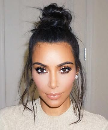 Kim Kardshian's Party-Ready Topknot