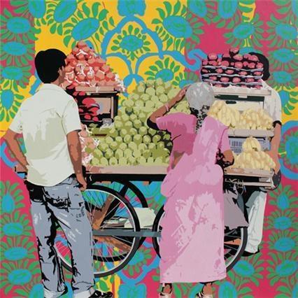 more fruit seller Indian Contemporary Art