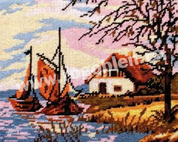 Cod produs 6.30 Barci cu vele, toamna Culori: 16 Dimensiune: 10 x 12cm Pret: 29.76 lei