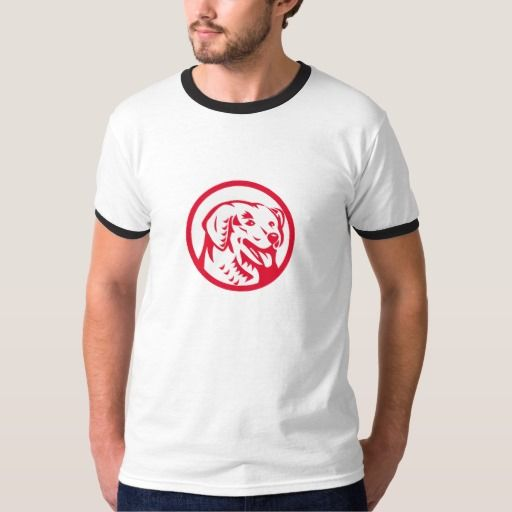 Kuvasz Dog Head Circle Retro T-shirt. Illustration of a head of a Kuvasz, an ancient breed of a livestock dog of Hungarian origin viewed from front set inside circle done in retro style. #Illustration #KuvaszDogHead