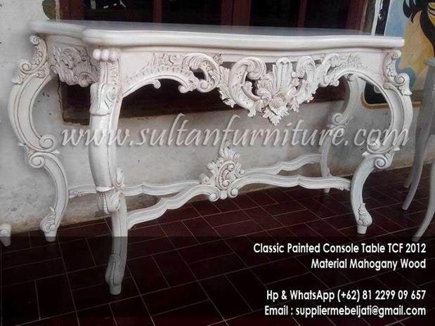 Jepara Jual Cermin Ukir Duco French Mirror Duco Furniture Modern Klasik  Dengan Warna Finishing Putih Duco Dan Dengan Design Yang Simple Minimalis Fu2026