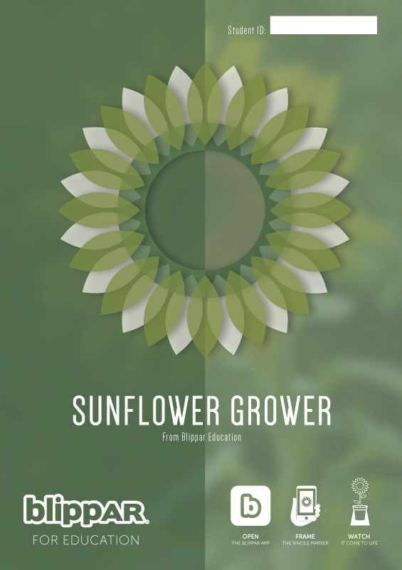I create educational augmented reality experiences at Blippar. This image is one of the products I have worked on recently with a developer here at Blippar. The design was created by me. Scan the image with the Blippar App to grow your own sunflower.