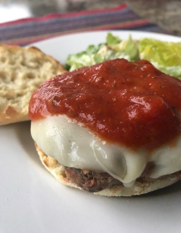 MAMA MIA, IT'S A PIZZA . . . BURGER! Pizza and burgers... Two of America's favorites combined in one! Just 8 weight watcher smart points per burger!