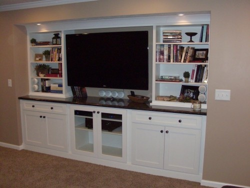 Luxury Using Kitchen Cabinets for Entertainment Center