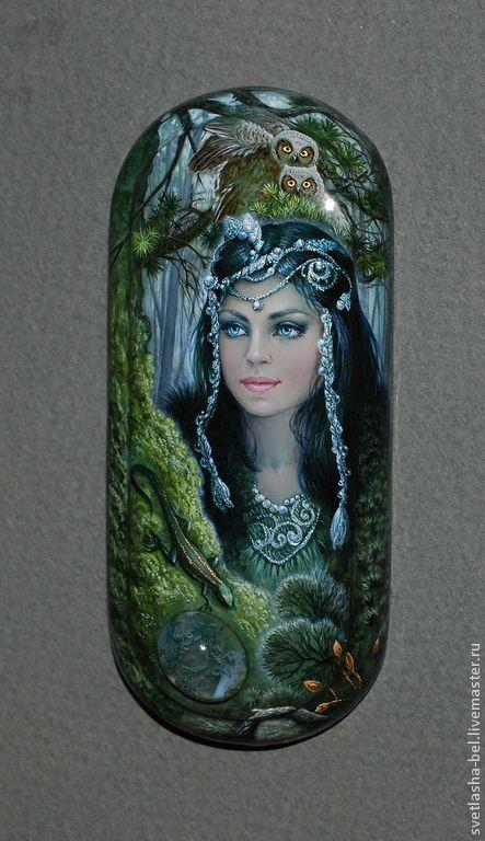 Купить Моховой агат... Таёжная сказка... - тёмно-зелёный, лаковая миниатюра, шкатулка