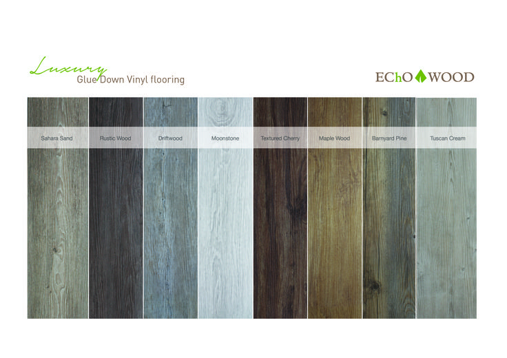 Luxury Glue Down Color Chart