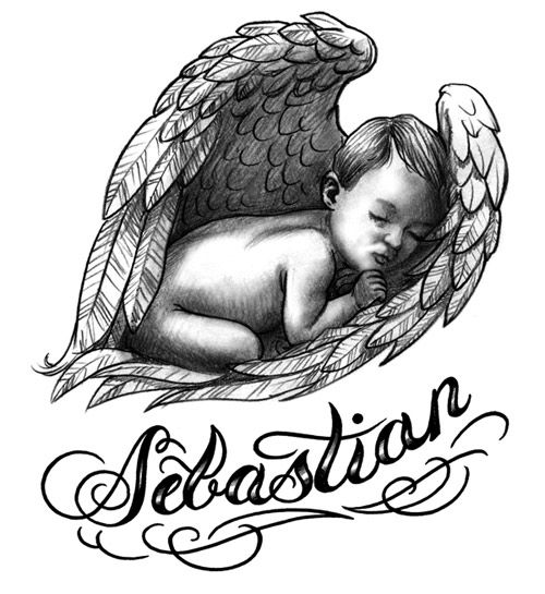 Baby Name Tattoos For Women | Baby Angel Tattoos For Women.  This is SO very precious.