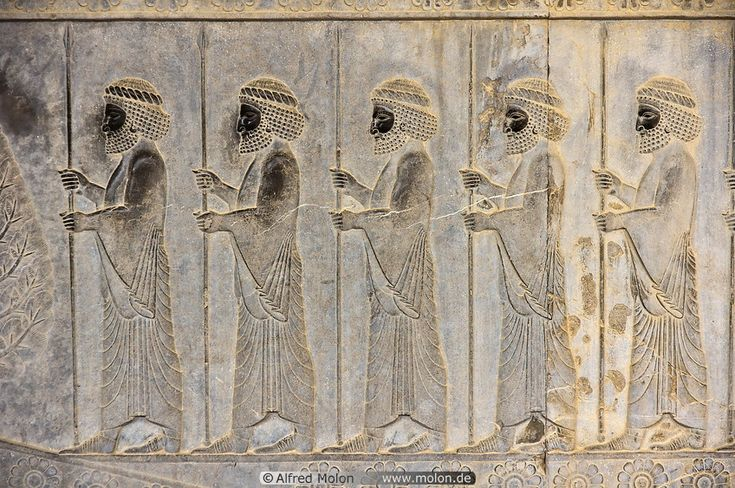 Persian soldiers bas-relief