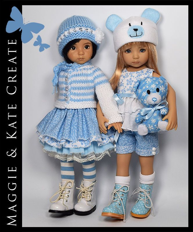 """12 Piece Mix & Match Outfit for Little Darlings Dianna Effner 13"""" Maggie…"""
