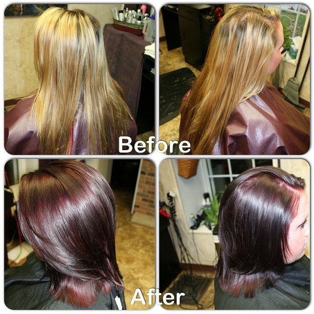 Kenra Fall Color Before And After Filled With Demi 6c 6n