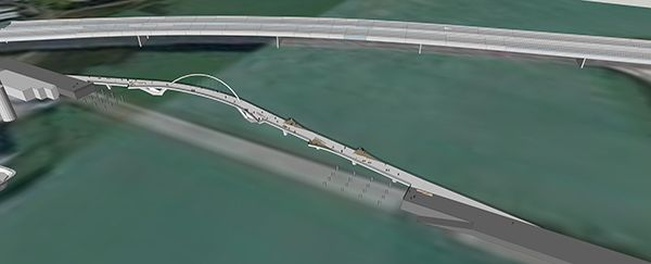 Preliminary design for the Old Mangere Bridge.
