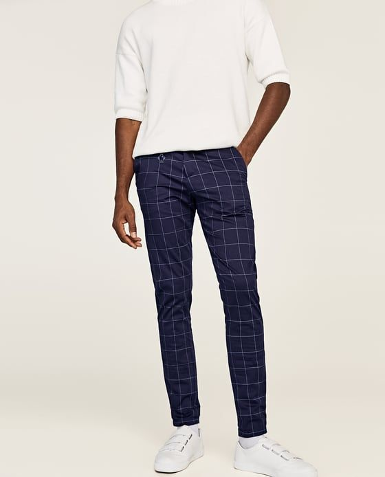 a0c345c37975 WINDOW PANE CHECKED SUIT TROUSERS-TROUSERS-MAN-SALE | ZARA India ...