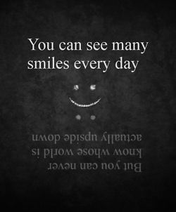 Never underestimate the value of a smile - and the strength to muster one only to shield the inner pain...