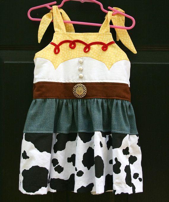 Custom boutique Toy Story Jessie inspired sun dress. $45.00, via Etsy.