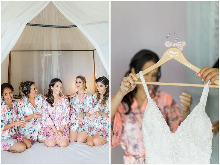 Bridesmaids getting ready in our custom-made gowns: http://weddingconcepts.co.za/zanzibar-celebration-jelena-zeins-island-wedding/