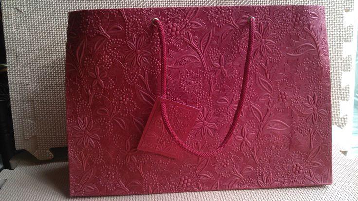 Red Floral Large Embossed Bag