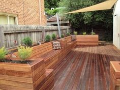 deck benches plant box - Google Search