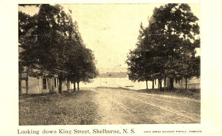 Looking Down King Street Shelburne, NS