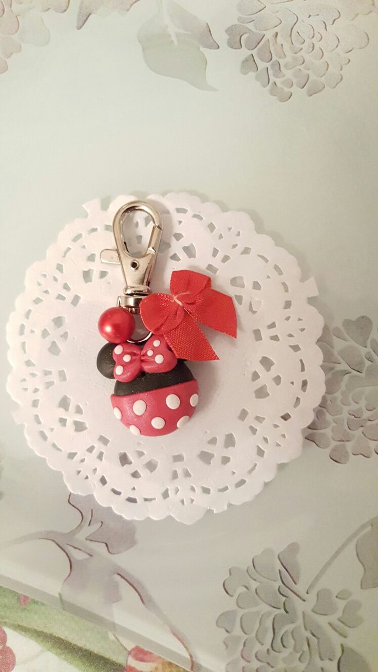 annù creations facebook fimo disney minnie red rosso pois gancio borsa beauty zaino agenda cartopazze
