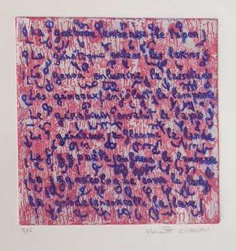 "Claude #Gagean ""S/T"", 1995. Aguatinta sobre Metal de 25x24 cm., Papel Arches de 250 gr de medidas 56x38 cm. Ej.: 15 #art #etching"