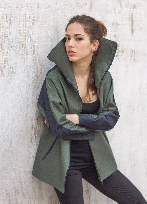 Denim jacket women / Womens sports jacket / by ExlibrisClothing