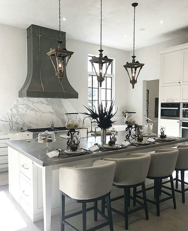 I like this with gray counters and black accents in case I get tired of the black - would be easier to change than black countertops.