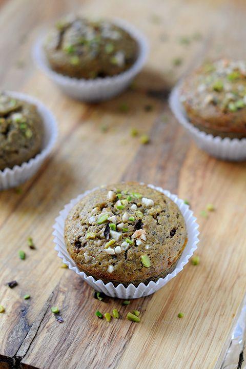 #Muffin al #pistacchio di #Bronte con marmellata di #arance  ~ Anima e Gusto ~