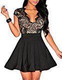 #9: NuoReel Women's Lace Nude Illusion Skater Club Dress #Shop wide selection of #women #dresses at http://buysdresses.com #ladies #fashion # beautiful #nice #iwantit #Clothing #Accessories #Jewel #Special #Occasion dress Night Out dress Cocktail dress Casual dress Wear to Work dress Sweater Dresses Wedding dresses