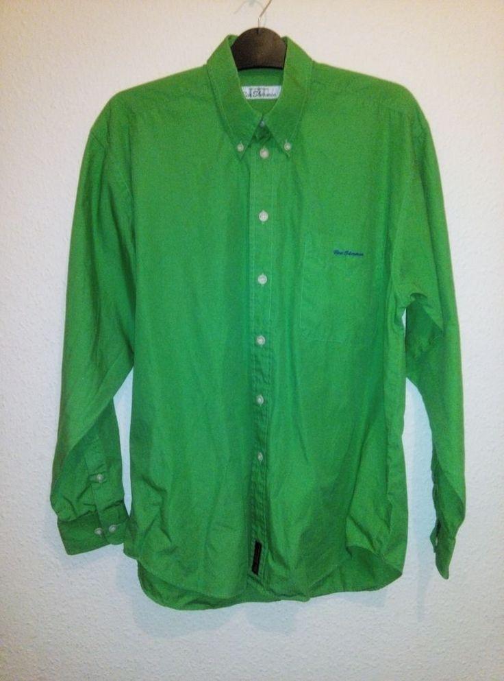 Mens Ben Sherman Formal / Casual Long Sleeve Shirt Jade Green Size XL Size 2 / M