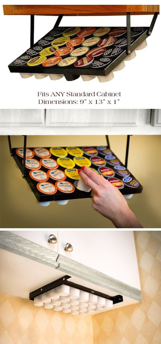 #9. Under-Cabinet K Cup Holder -- 55 Genius Storage Inventions That Will Simplify Your Life