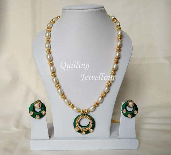 silk thread jewel set - m05