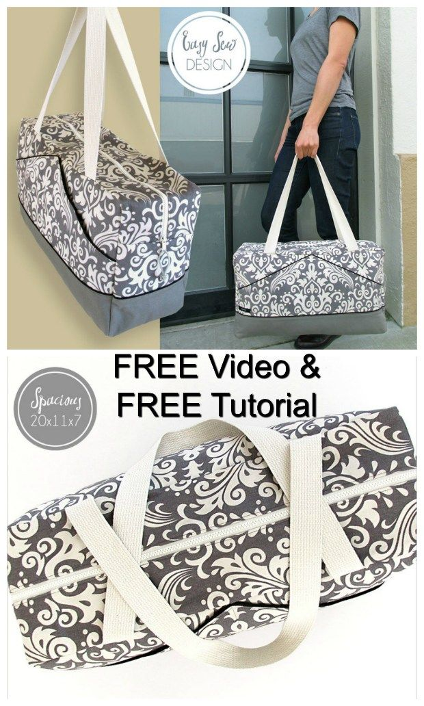 The Perfect Damask Duffle – FREE sewing pattern & FREE step-by-step tutorial