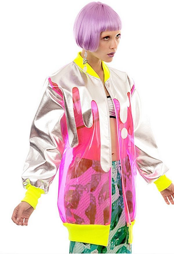 Not the jacket style or colours, but I like the transparent and opaque combination and dribbles.