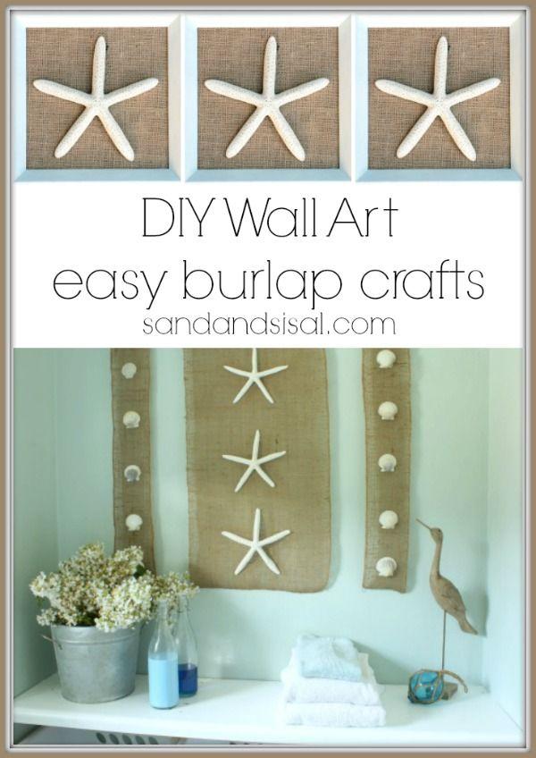DIY Wall Art- Easy Burlap Craft in under 30 minutes
