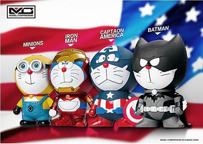 Дешевое Doraemon потому бэтмен бат человек железный человек миньоны капитан америка прекрасная кукла симпатичные фигурку модель игрушки, Купить Качество Игрушечные фигурки непосредственно из китайских фирмах-поставщиках:        Спасибо вам посетить!                                 Marvel Avengers Superhe