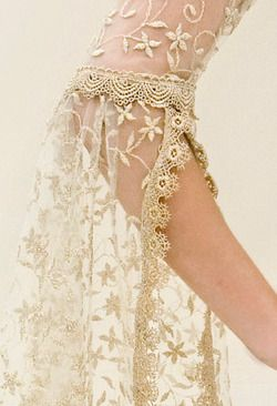 good idea to do with goldish/taupish lace dress I have that I want to take apart for other uses