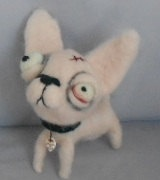 Zombie Chihuahua Ooak art doll by papermoongallery on Etsy, $69.00: Art Dolls