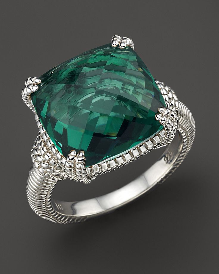 Judith Ripka Green Quartz And Sterling Silver Ring | Bloomingdale's