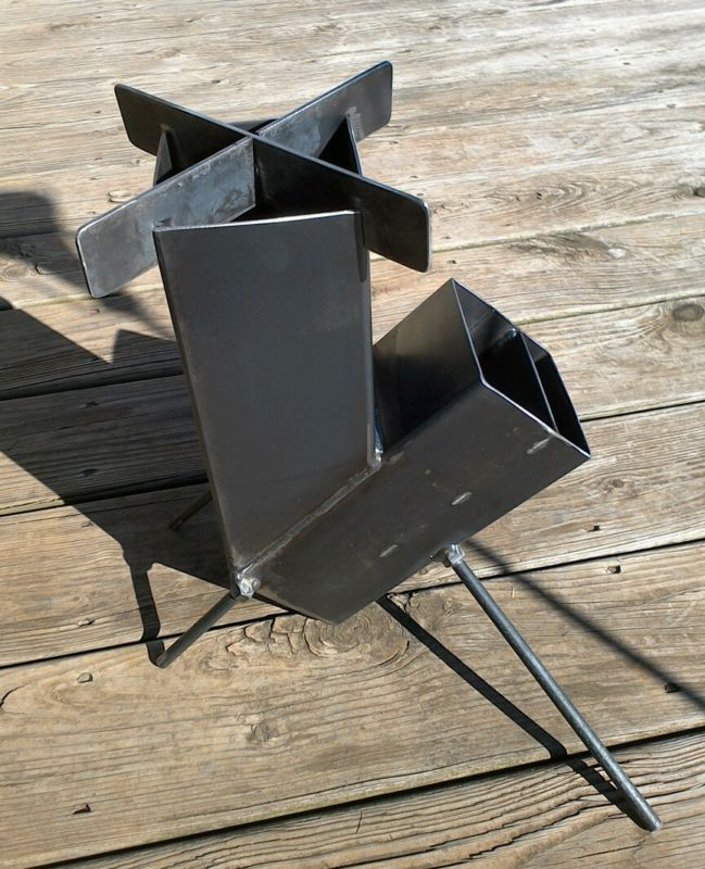 Wood Burning Rocket Stove Self Feeding for Camping Prepper Hunting shtf