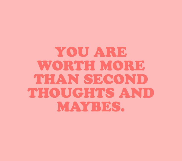 Definitely but when you are constantly reminded you are special, there are no second thoughts and definitely no maybes.
