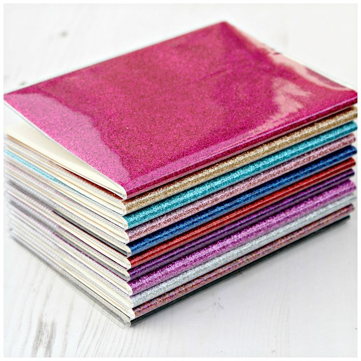 If you're bit of a magpie and love making lists you'll need one of these sparkly glitter notebooks! Each A6 notebook contains 30 sheets of lined recycled paper and comes protected in a plastic cover. Perfect for popping in your handbag!Available in 11 different glitter options: red, gold, silver, pink, blush, lilac, purple, turquoise, royal blue, rainbow and graphite.▬▬▬▬▬▬▬▬▬▬▬▬▬▬★ FLAT RATE DELIVERY ★We aim to dispatch your order within 3 working days. For ...