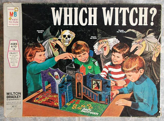 1971 Milton Bradley Which Witch? Board Game